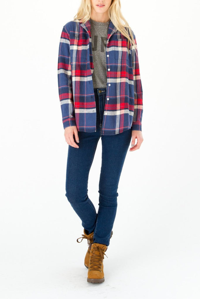 Bridge & Burn Paige Plaid Shirt  Sz: XS