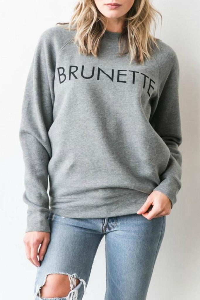 Brunette The Label Sweater Sz XS/S