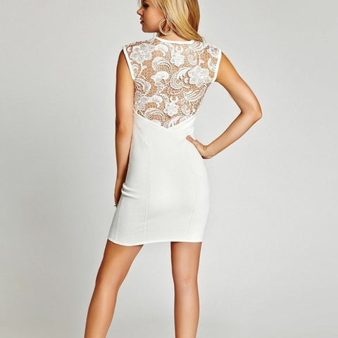 Guess NWT Lace Back Body Con Sz: XS