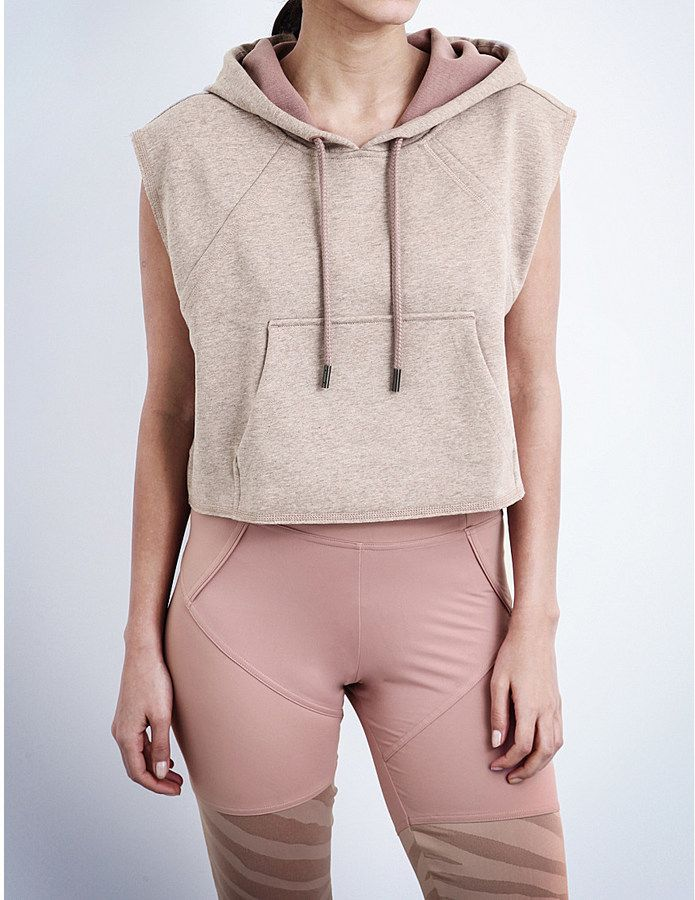 NWT Stella McCartney for Adidas Cropped Sleeveless Hoodies Sz S