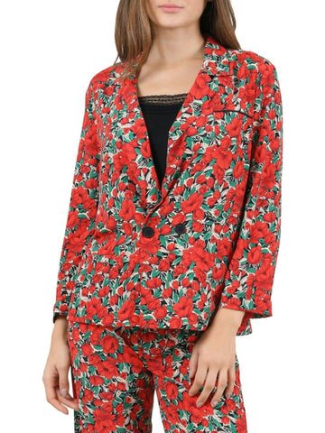 Molly Bracken Floral Notch Lapel Blazer Sz: XS