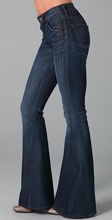 Citizens of Humanity Angie Super Flare in Dark Denim Sz: 27