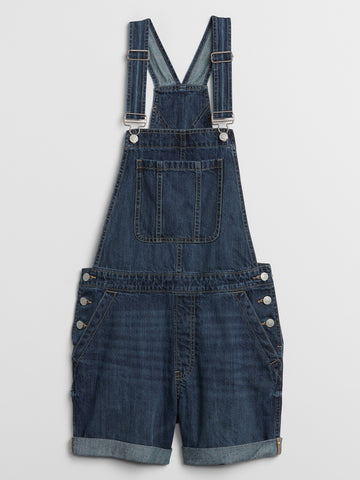 Gap Denim Short Overalls Sz: M
