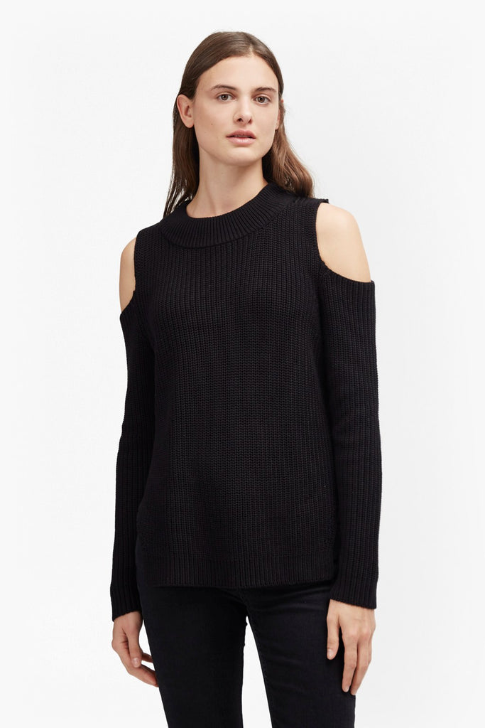 French Connection Cold Shoulder Sweater Sz: L