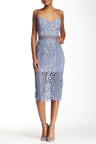 Just Me Crochet Midi Dress Sz: S