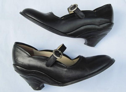 Fluevog Pin-Up Scalloped Heels Sz. 7