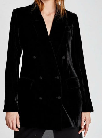Zara Double Breasted Velvet Blazer Sz. XS