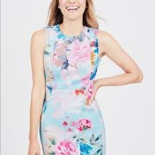 Calvin Klein Floral Dress Sz: 12