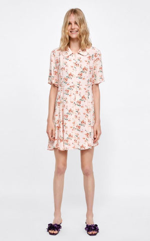 Zara Floral Print Dress Sz: S