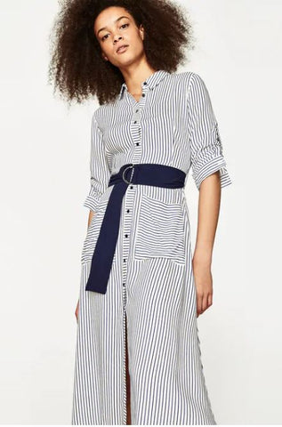 Zara Striped Tunic Sz: S