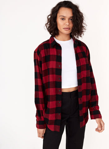 TNA The Boyfriend Flannel Sz. L