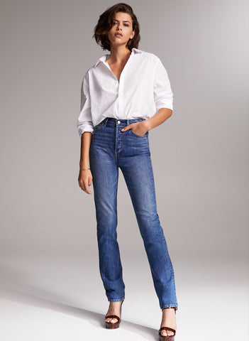 Denim Forum The Nina Stovepipe High Rise NWT Sz: 23