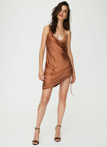 Wilfred Ruched Slip Dress Sz. M