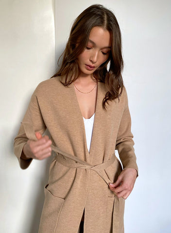 The Group by Babaton TY Cardigan Camel Sz. L