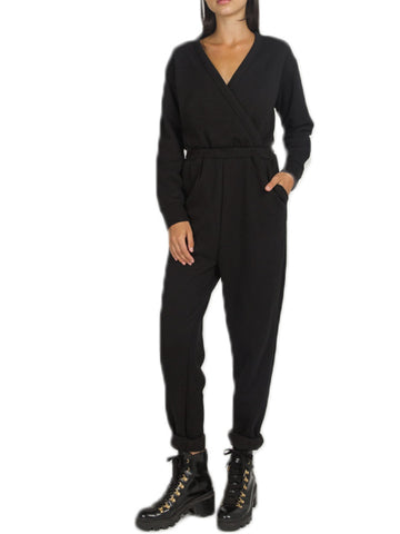 "Brunette The Lable ""Farrah Fleece Jumpsuit"" Sz: S/M"