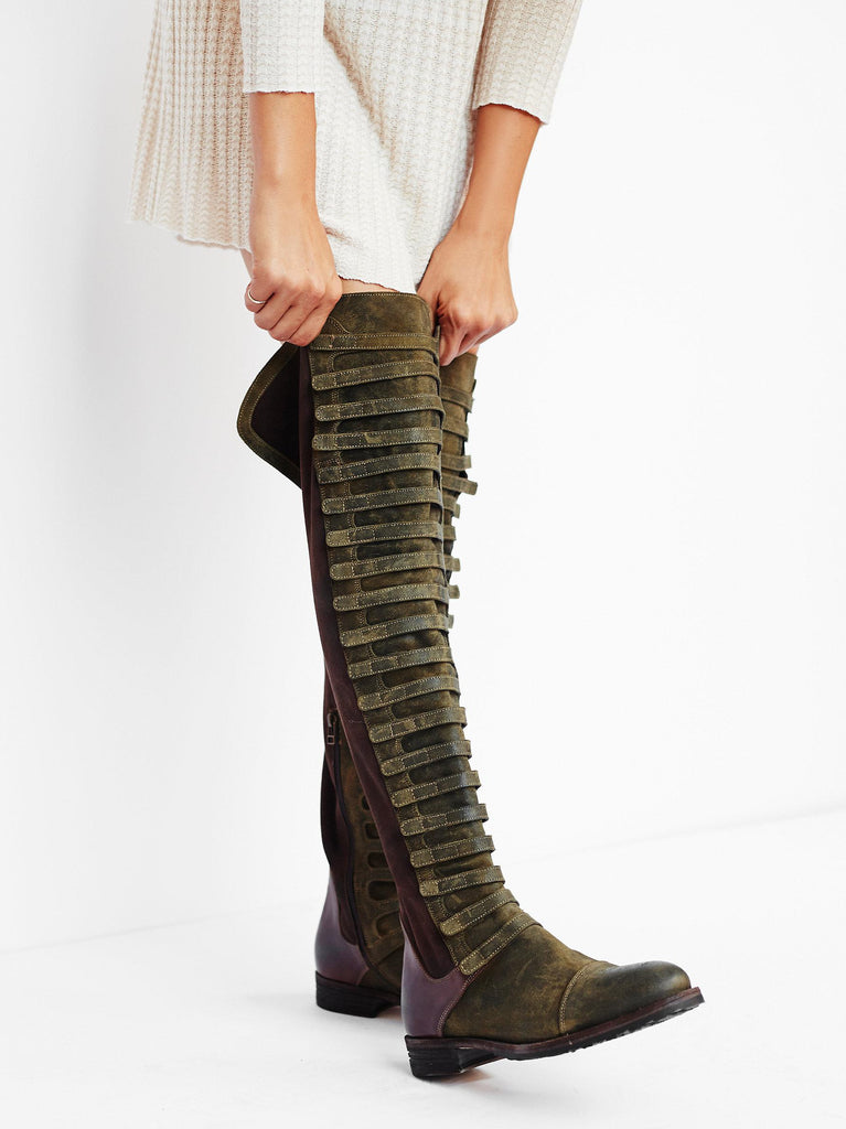 Free People Black Forest Over-The-Knee Boot Sz 39