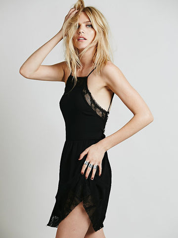 Free People Black Lace Dress Sz:M