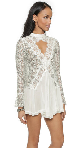 Free People Tell Tale Lace Dress Sz: M