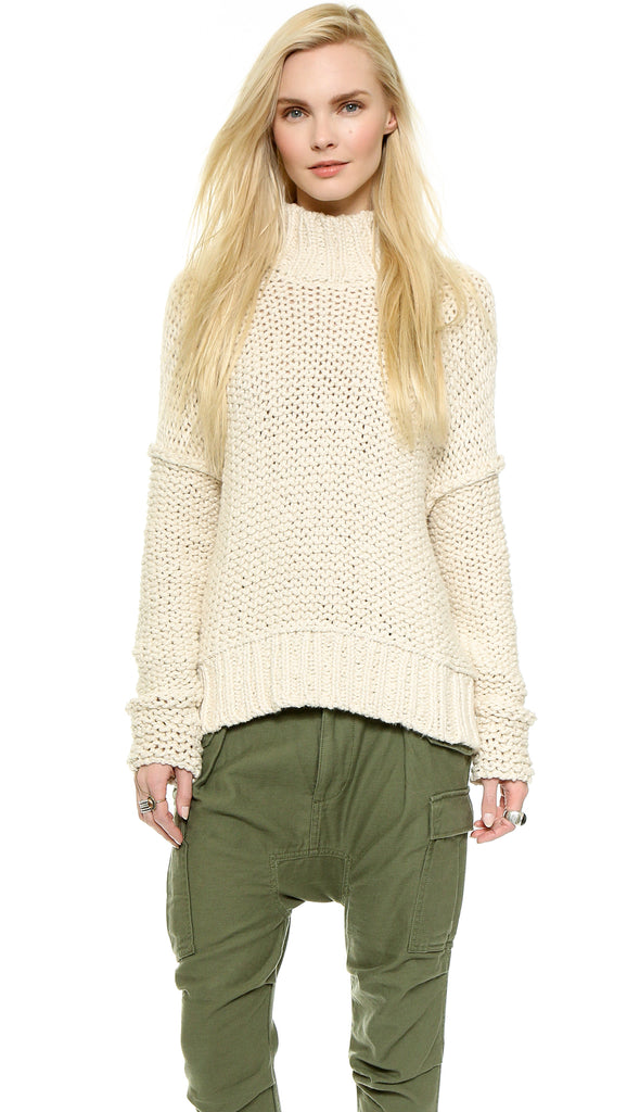 Free People Long Summer Pullover Sweater Sz: L