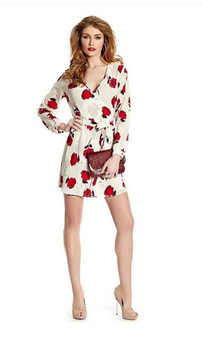 Guess Marciano Lia Poppy Wrap Dress Sz: S