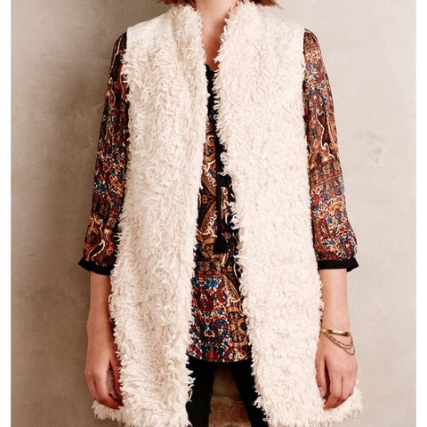 Hei Hei Shaggy Embroidered Vest Sz: S