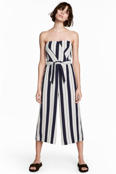 H&M Striped Jumpsuit Sz 8