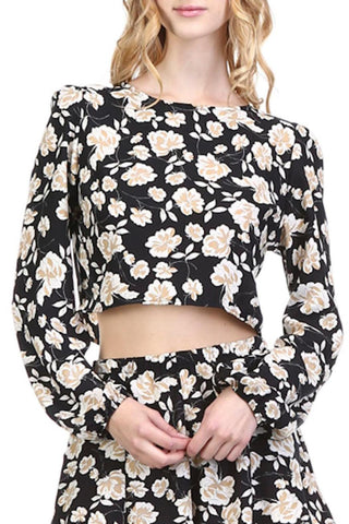 Honey Punch Floral Crop Sz:M