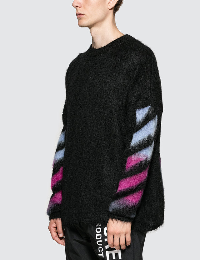 Main Label Off White by Virgil Abloh Brushed Mohair Sweater Sz M/L