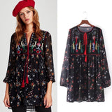 Zara Embroidered Dress Sz:S