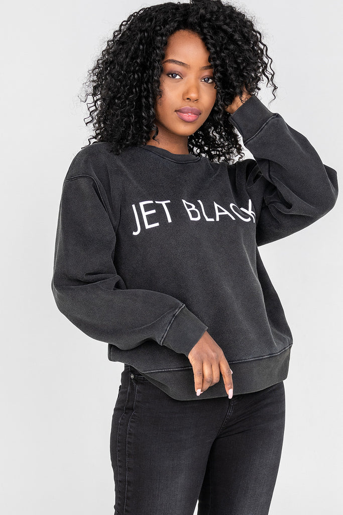 Brunette The Lable 'Jet Black' Sweatshirt Sz: S/M