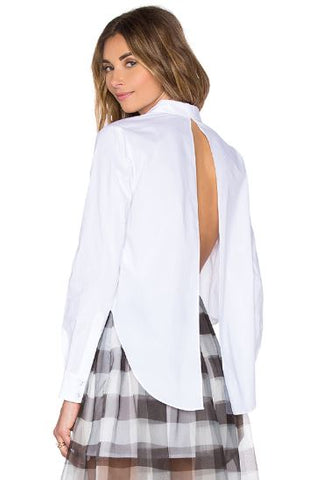 Kendall + Kylie Open Back Button Up Sz: L