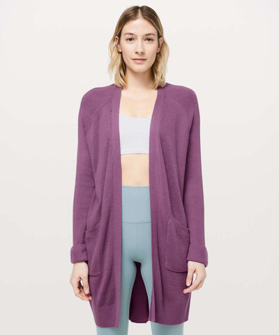 Lululemon 'Still At Ease' Cardigan Sz: 6