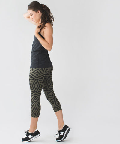 Lululemon Geometric Wunder Under Crop Leggings Sz: 6
