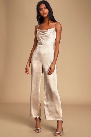 Lush Perfect Night Jumpsuit Sz: S NWT!