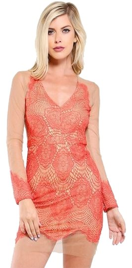 NWT Luxxel Lace Illusion Dress Sz S