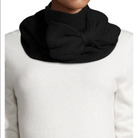 Kate Spade Knit Bow Scarf Black