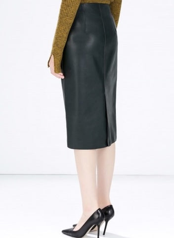 Zara Forest Green Pencil Skirt Sz: XS