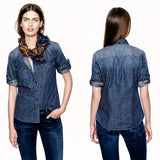 J.Crew Chambray Button Down Sz. 2
