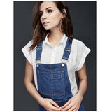Gap Flared Denim Overalls Sz: M