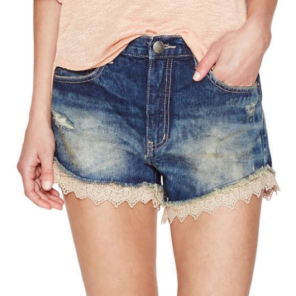 Free People Lace Trim Shorts Sz: 29