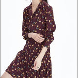 Banana Republic Floral Pleated Skirt Shirt Dress Sz:4