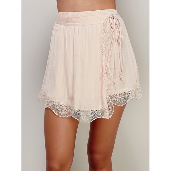 NWT Free People Tie Side Half Slip Skirt Sz S