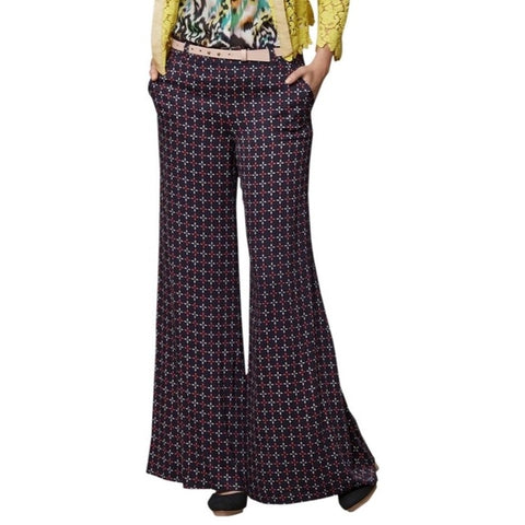 Anthropologie Geometric Wide Leg Pants Sz: 6