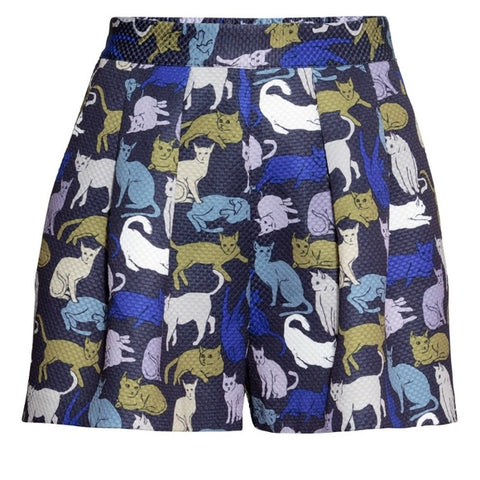 H&M Navy Cat Shorts Sz: 8