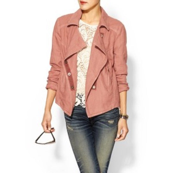 Free People 'Rosewood' Linen Jacket Sz. M