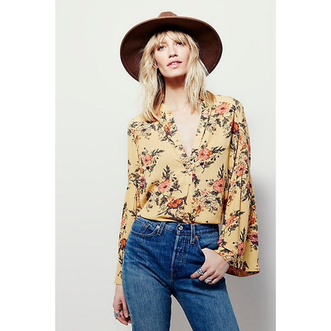 Free People Floral Blouse Sz. S