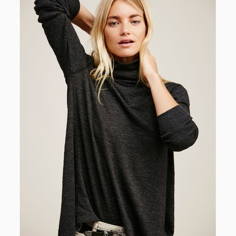 Free People We The Free Split Back Turtleneck Sz: XS