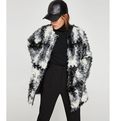 Zara Faux Fur Jacket Sz: XS