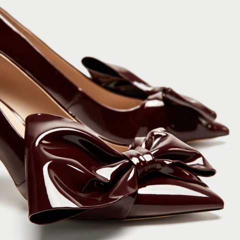 Zara Bow Pumps Sz: 35
