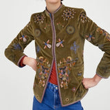 Zara Woman Embroidered Jacket Sz: Small